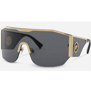 VERSACE Medusa Halo Shield Sunglasses NWT